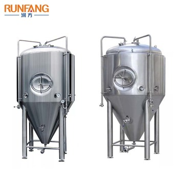 250l 500l 600l 800l stainless steel jacketed conical beer fermenter tank