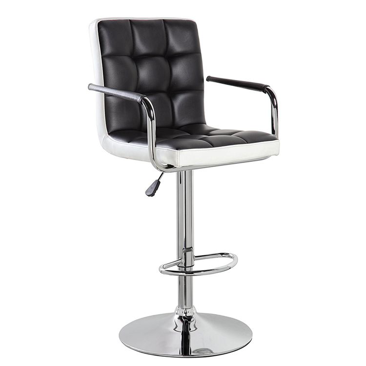 Modern Design Adjustable Counter Stools Bar Chairs Synthetic Leather Swivel Barstools