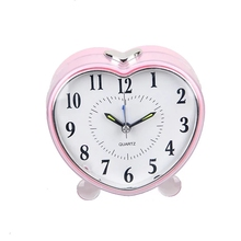 (GH640) a forma di <span class=keywords><strong>Cuore</strong></span> melody sveglia LED night-light plastica hotel alarm clock