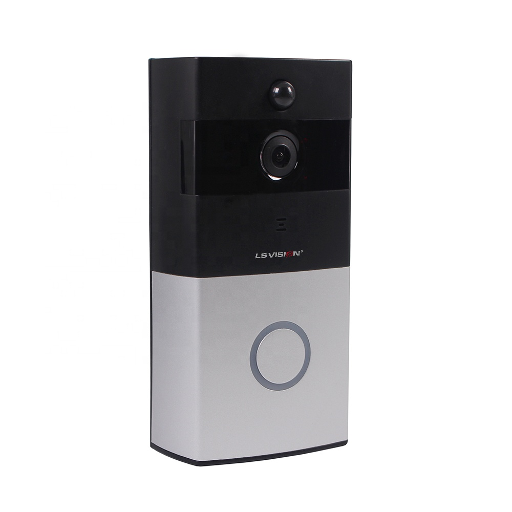 LS VISION HD 720P Two Way Real Time Intercom PIR Motion Detection and Intercom WIFI Doorbell Support Mobile Alarm and Low Power
