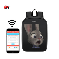 Fashion High Quality Light Weight Soft Shell Waterproof Sound Control LED Light Backpack
