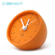 Most Popular Decorative Orange Round Table cement Clock For Hom Decor