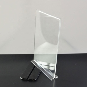 Wholesale T Shape Table Stand Clear Acrylic Brochure Holders