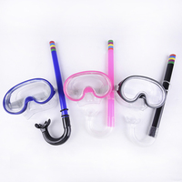 1 mouthpiece diving swimming goggles mask breathing tube set cheap kids scuba snorkel mask