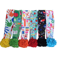 stylish baby girl ruffle pants boutique leggings wholesale children back to school kids clothes