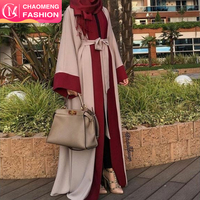 1560# 2018 new model muslim Islamic simple abaya designs women new design moroccan casual dress kaftan dress