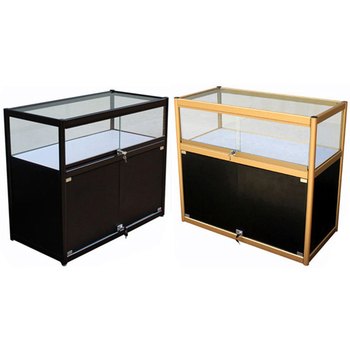 Phone shop full view aluminum frame type lockable phone display counter