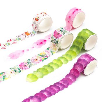 Flower Petals Decorative Masking Fragrance  Washi Masking Scrapbooking paper tape