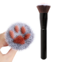 New high-end multi-functional cosmetic brush, fibre hair cosmetic tool, single petal cat claw shape brush