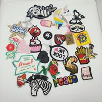 Custom Fabric Embroidered Patch Badges Sew on Embroidery Patches for Clothing