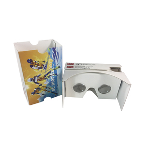 Cheap diy d vr glasses cardboard 3d glasses colorful goggle cardboard movie xnxx vr 3d glasses with remote