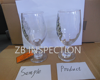 Drinking Glass Quality Inspection service / Drinking Glass Cup quality control third party inspection service