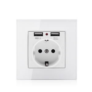 German power 250V 16A wall socket with USB charger