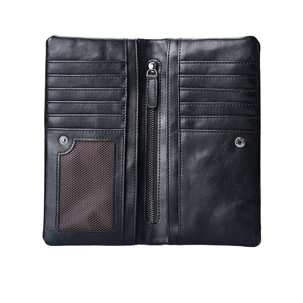 PU leather <strong>wallet</strong> fashion long mens <strong>wallet</strong> zipper card purse bag