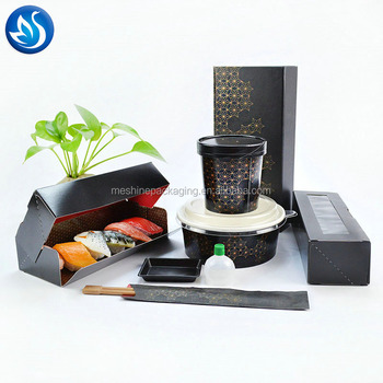 aluminum foil and EPE foam liner corrugated Type for Sushi Use meal prep container box