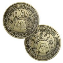 Rusland Emoji Custom Uitdaging Coin Casting Patroon Plated <span class=keywords><strong>Brons</strong></span> Souvenir Collectie <span class=keywords><strong>Craft</strong></span> Gedrukt Kat