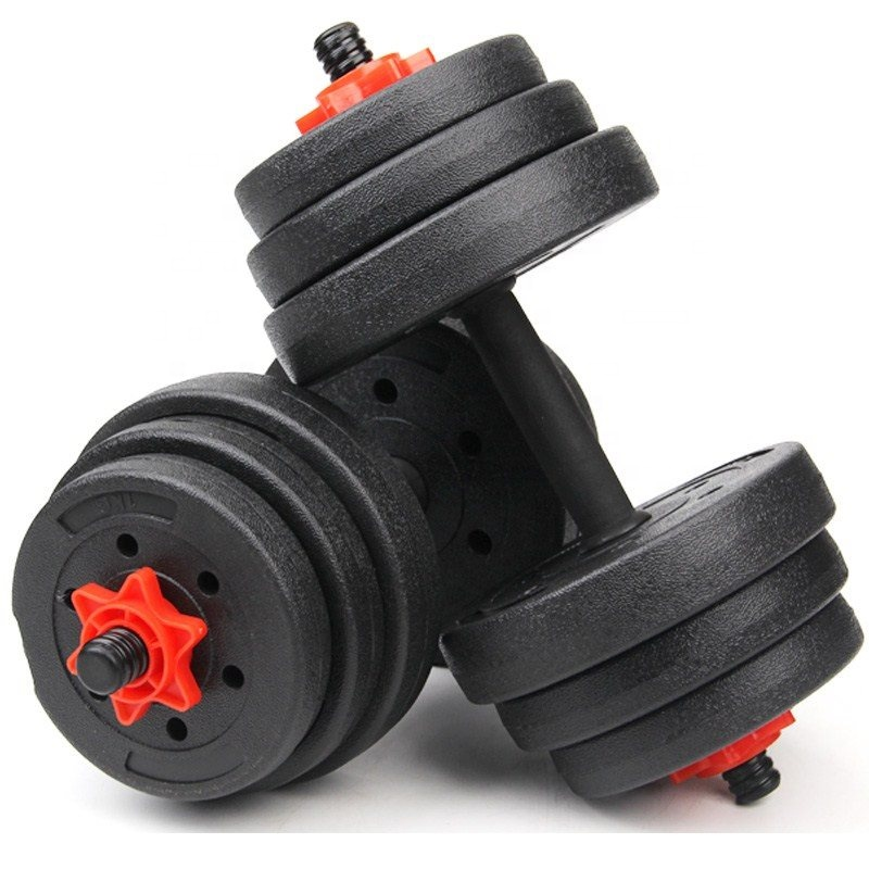Kustom Murah Adjustable Dumbbell 10Kg 20Kg Gym Barbel Di Angkat Berat Dumbbell Set