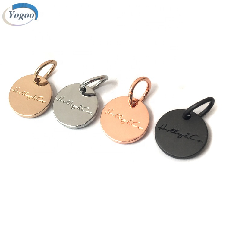 Hot Selling Zinc Alloy Custom Logo Metal Dog Collar <strong>Charm</strong> with Big Jump Ring
