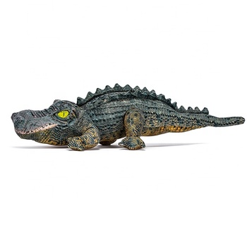Promotional custom simulated printing plush toy crocodile with lifelike 3D print