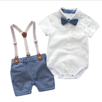 Baby Boys Gentleman Clothes Set 2020 Summer Party Birthday Infant newborn baby clothes drop shipping