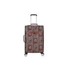 Fashion Print Custom Pattern Pu Leather Trolley Bags Travelling Luggage For Women Men