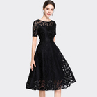 2019 Elegant Black Clothing Party Wear Latest Designs Fashion hot night other formal Long lace Summer Casual Women Ladies Dress