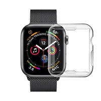 For Apple Watch Accessories full cover transparent case, for apple watch case soft tpu case
