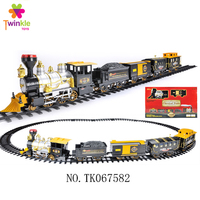 Battery operated classic train set with music and light bo train toy