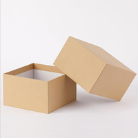 Wholesale design eco friendly empty marriage black/white/brown kraft paper gift package box