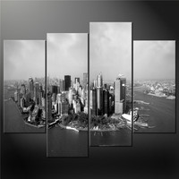 Giclee artwork 4 panels canvas print canvas painting new york city for living room home hotel cafe modern Wall Decoration