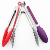 Professional Stainless steel food kitchen locking tongs sets with silicone tips