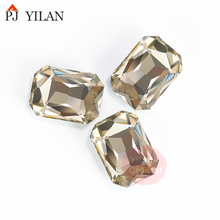 YL-2005 6*8,8*10,10*14,13*18,18*25mm Cristal Strass Rectangle <span class=keywords><strong>Perles</strong></span> <span class=keywords><strong>De</strong></span> Pierre Pour Bijoux fabrication