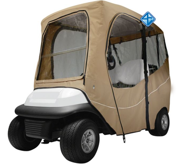 Polyester sun protection and rain proof golf cart cover