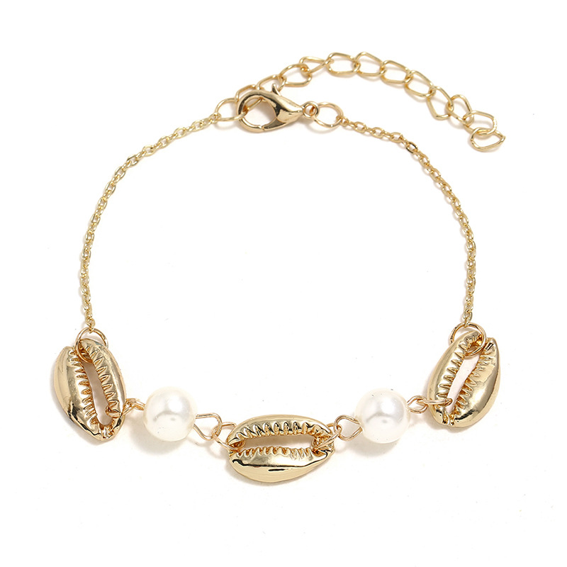 Silver Plated Solid Band Ankle Bracelet Smart Ladies Gold Jewellery & Watches Costume Jewellery