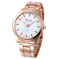 Fashion Rose Gold GENEVA Watches Best Sale Stainless Steel Watch High Quality Casual Wristwatch Gift For dropshipping GW168