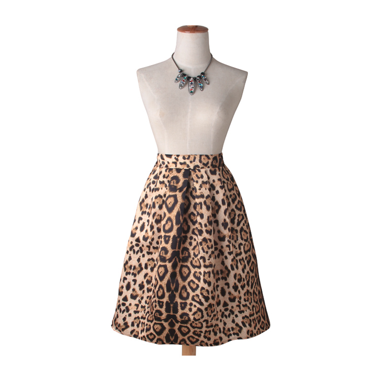 High quality Leopard printing skirt for woman sexy high waist skirt
