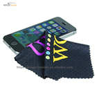 Custom microfiber mobile phone computer screen wipes cleaning cloth for call phone