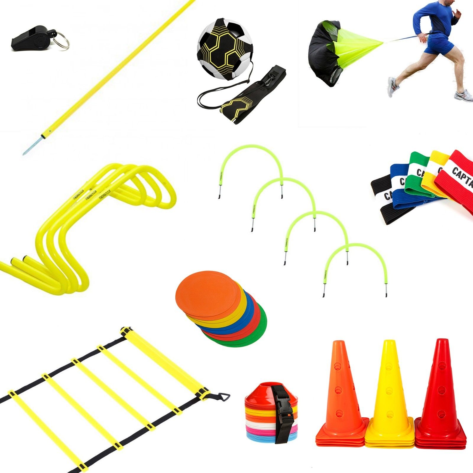 Amazon hot sell Pro Agility Ladder and Cones Speed Agility Hurdles Poles Cones Ladders set Football Training Sport Equipment