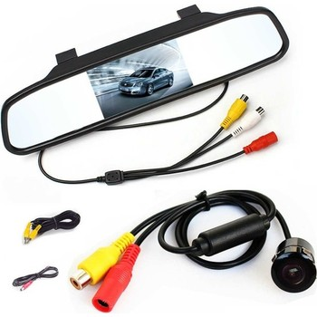 "Hot Sale 4.3"" Inch Audible Alarm Reverse Parking System Universal Parking Mirror Excellent Quality"