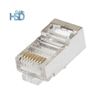 100 pcs/pack CAT5E RJ45 Ethernet Network Male Cat5 Connector Internal 8 Pin Type Shielded 8P8C Modular Plug Connector