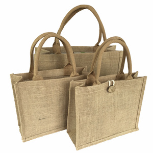 Personalised Daily Use Handy Organizer Premium Durable Eco Sturdy Perfect Size Printed Tote Jute Shopping Bag Wholesale