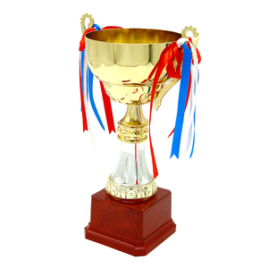 custom shape personalized sport metal big world soccer trophy cup