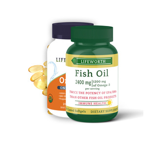Lifeworth fish oil softgel capsules omega 3 bulk