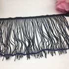 high quality trimplace garment borders rayon black chainette fringe on stock