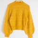 Fashion Eyelet Knit Crew Neck Mohair Wool Sweaters Women