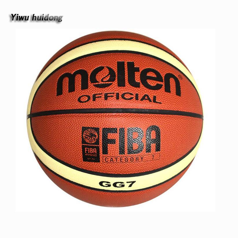L'exercice GG7 GF7wholesale Fondu En Cuir PU basket-ball taille 7 6 5 LOGO personnalisé marque de basket-ball baloncesto balones basquete