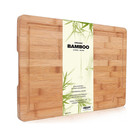 Premium Organic Bamboo, Extra Large Cutting Board and Serving Tray with Drip Groove