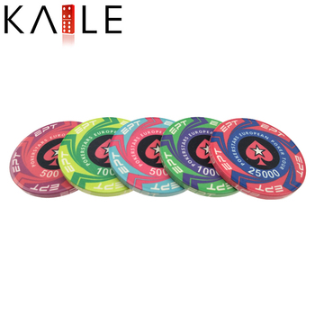 39mm Ept ceramic poker chips with value