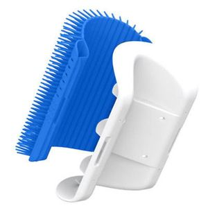 Self Cleaning Brush Wall Corner Comb Brush Tool,Pet Grooming Massage Brush For cat and dog