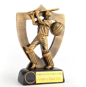 stock mould New design souvenir zinc alloy sport Resin cricket trophies